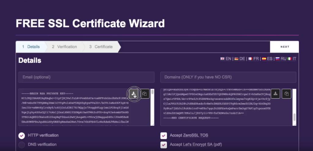 download letsencrypt account key