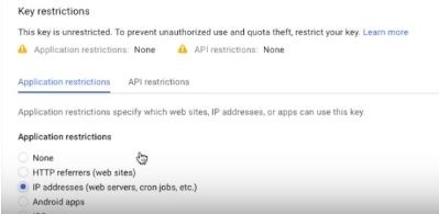 """IP address restrictions"""