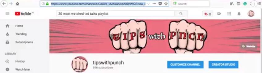 Grab the URL
