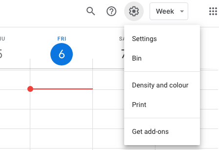 setting google calendar