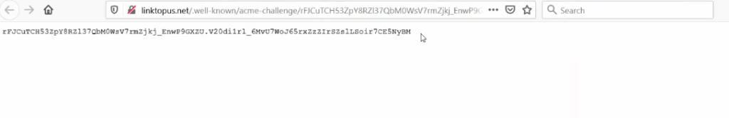 Example of ssl verification file