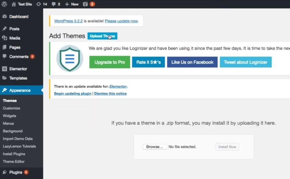 Install Themeforest theme on WordPress - step 3