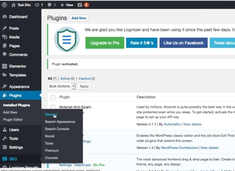 Creating XML sitemap WordPress website, step 1