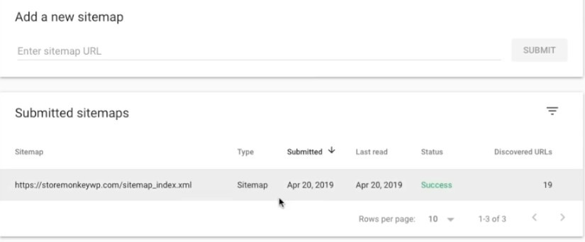 Submitting Sitemap To Google Search Console, step 5