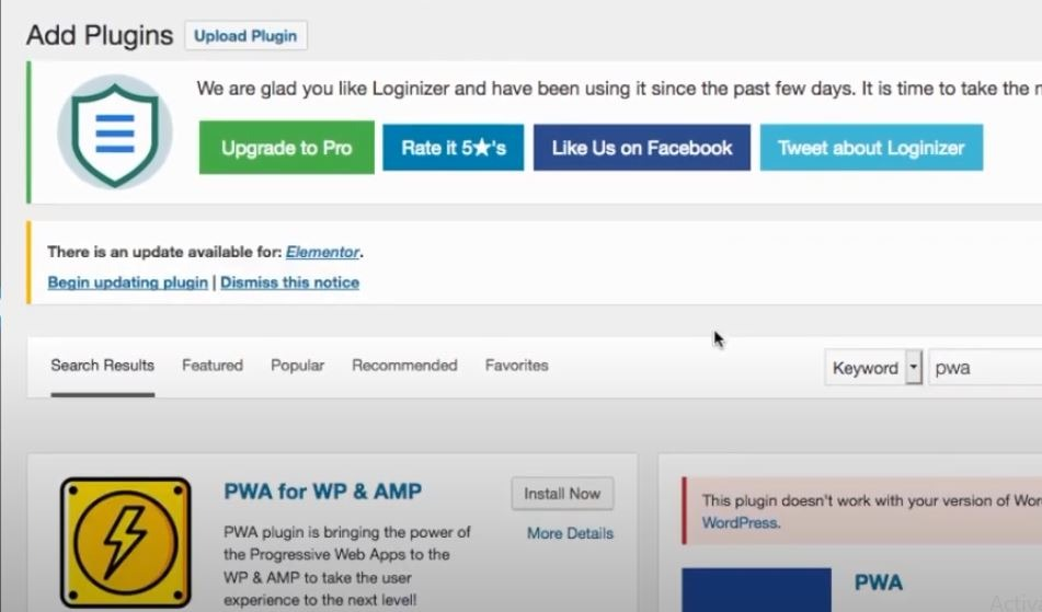 Installing The WordPress PWA Plugin - Image 2